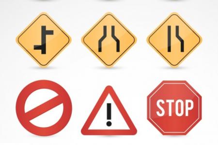 Разновидности знаков, предупреждающих об опасности